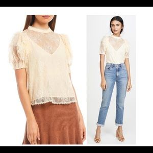 Free People Lace Blouse NEW